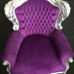 Barok stoel roze zilver bij Springkussen Concurrent